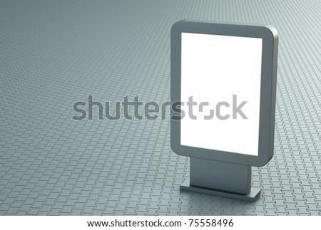 Blank outdoor citylight banner. 3D render - stock photo