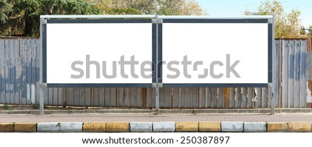 Blank outdoor two - stock photo