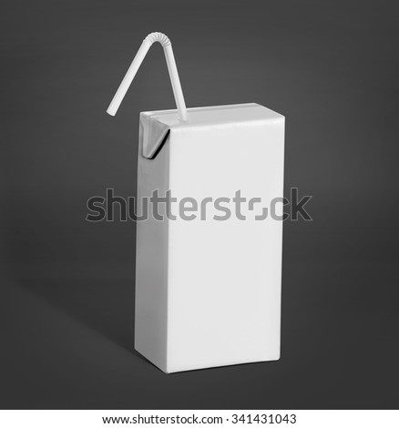 blank pack of drink liquid product ready for your design. over grey background mockup - stock photo