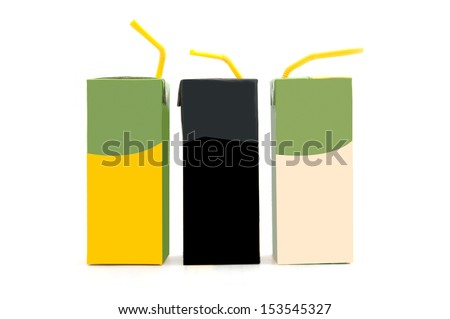 blank pack of drink ready for your design. isolated over white background - stock photo