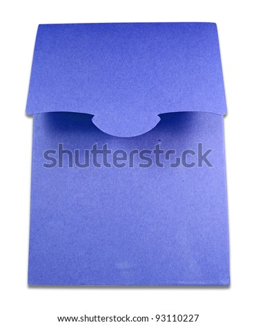 Blank package of blue box isolated on white background - stock photo