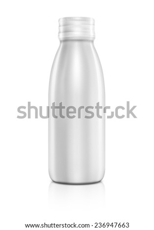 Blank packaging beverage bottle isolated on white background - stock photo