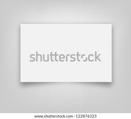 Blank paper banner illustration - stock photo
