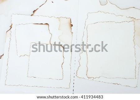 blank paper burn design background - stock photo