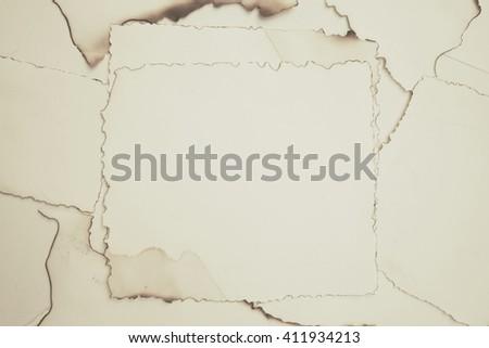 blank paper burn vintage design - stock photo