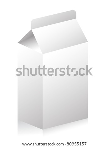 Blank paper carton for milk or fruit juice illustration - stock photo