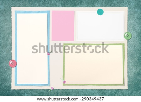 Blank Paper Page Layout On Old floor for put the somthing - stock photo
