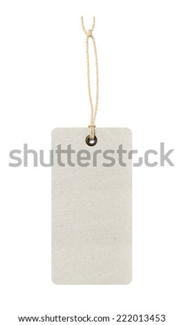 Blank paper price hanger - stock photo