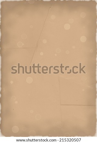 Blank paper with burned edges - stock photo
