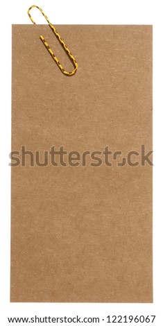 Blank papyrus label - stock photo