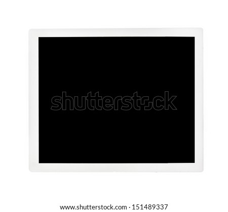 Blank photo  - stock photo