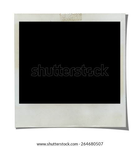 Blank Photo, clipping path included - stock photo