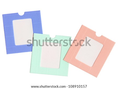 blank photo frame isolated on background (different colors) - stock photo