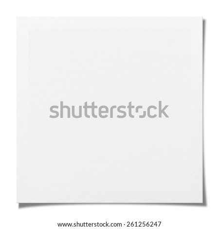 Blank photo paper isolated on white background with clipping path. - stock photo