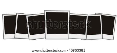 blank photos isolated on white - stock photo