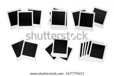 Blank photos , Isolated on white background , copy space - stock photo