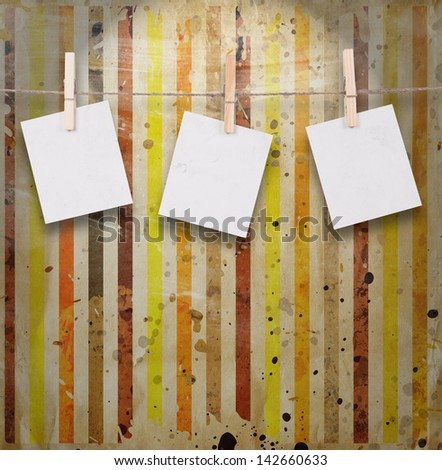 Blank Photos on Multicolored vintage background - stock photo