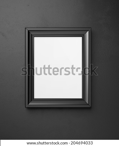 Blank picture frame - stock photo