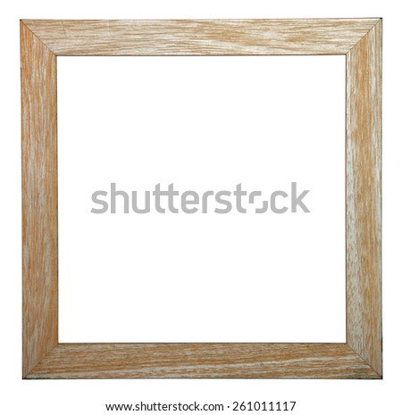 Blank Picture Frame. Isolated on white. - stock photo