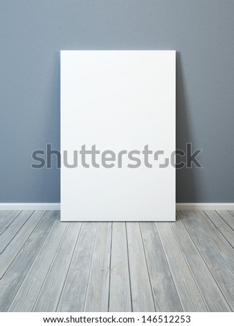 blank picture in the room - stock photo