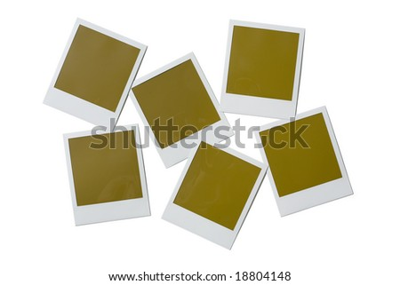 Blank poloroid film isolated on a white background - stock photo