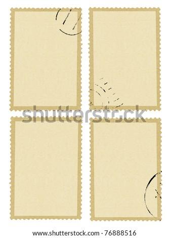 Blank post stamp - stock photo