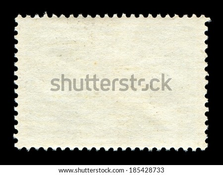 Blank postage stamp background - stock photo