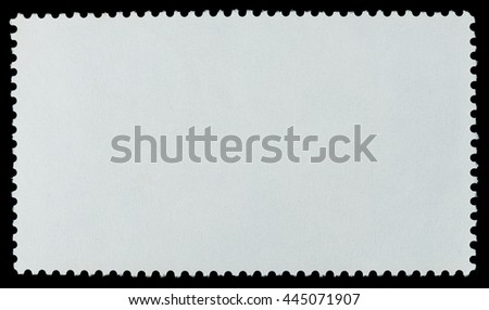 Blank postage stamp paper long background texture on a black background - stock photo