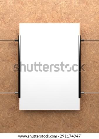 Blank poster, mockup - stock photo