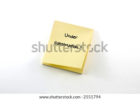blank postit note, isolated on white background. - stock photo