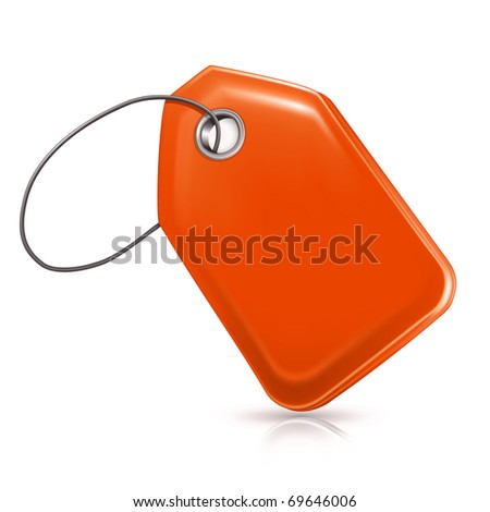 Blank Price Tag, Bitmap copy - stock photo