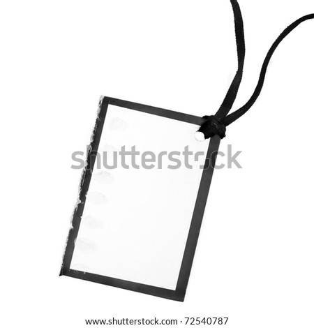 Blank price tag card isolated on white - stock photo