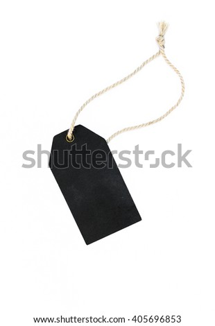 Blank price tag on white background - stock photo