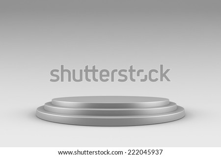 Blank product stand - mockup - stock photo