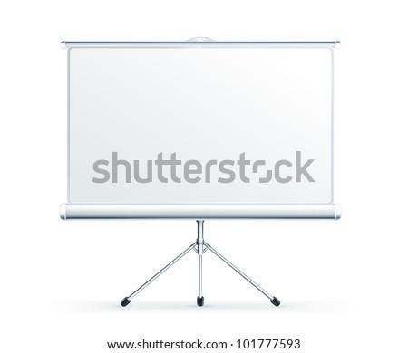Blank Projection screen, bitmap copy - stock photo