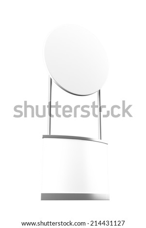 Blank promotion counter mockup. - stock photo