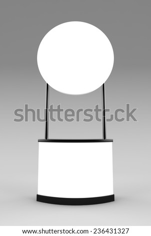 Blank promotion counter mockup - stock photo