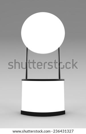 Blank promotion counter mockup - stock photo