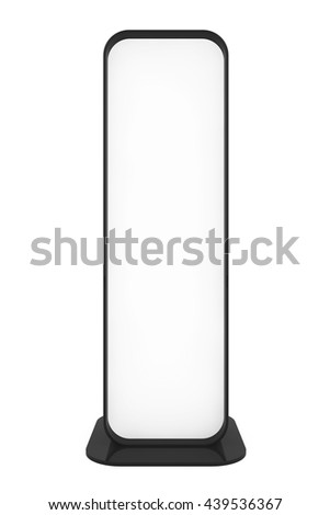 Blank Promotion Stand on a white background. 3d Rendering - stock photo