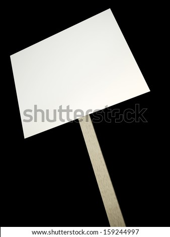 Blank protest banner on a black background. 3D render. - stock photo