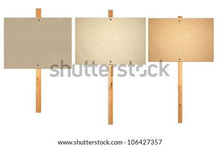 blank protest sign board - stock photo