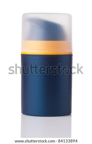blank pump bottle isolated on white - stock photo