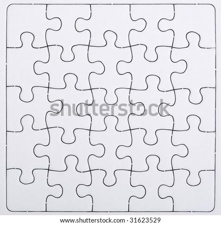blank puzzle - stock photo