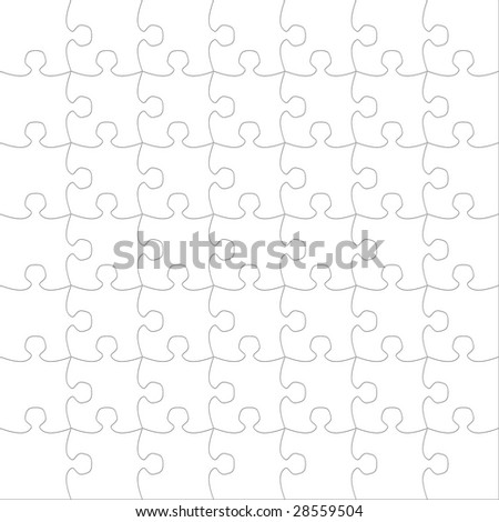 Blank puzzle (use for backgrounds, layering) - stock photo