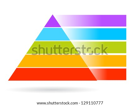 Blank pyramid, add your text - stock photo