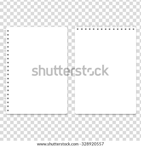 Blank realistic spiral notepad notebook isolated on white - stock photo