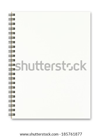 Blank realistic spiral notepad notebook isolated on white background - stock photo