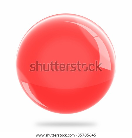 Blank Red Sphere Float - stock photo