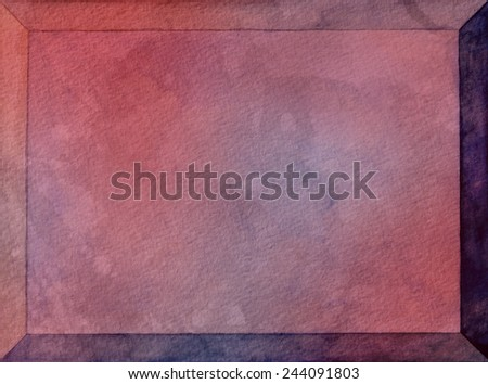 blank red watercolor text box with beveled edges, gray and pink marbled painted frame or label with copyspace, old vintage textured paper, red label or sign with room for typography - stock photo