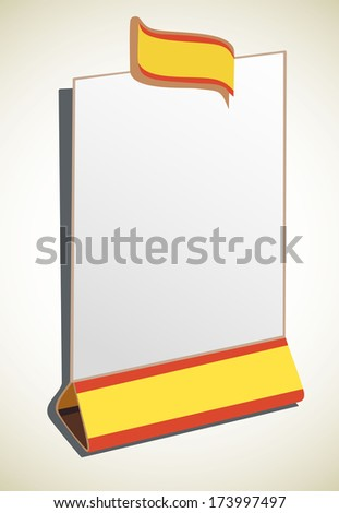 blank restaurant menu - stock photo